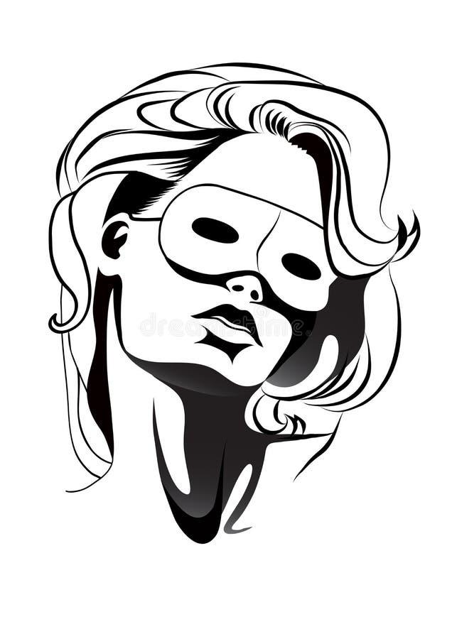 γυναίκα μασκών στοκ φωτογραφία με δικαίωμα ελεύθερης χρήσης