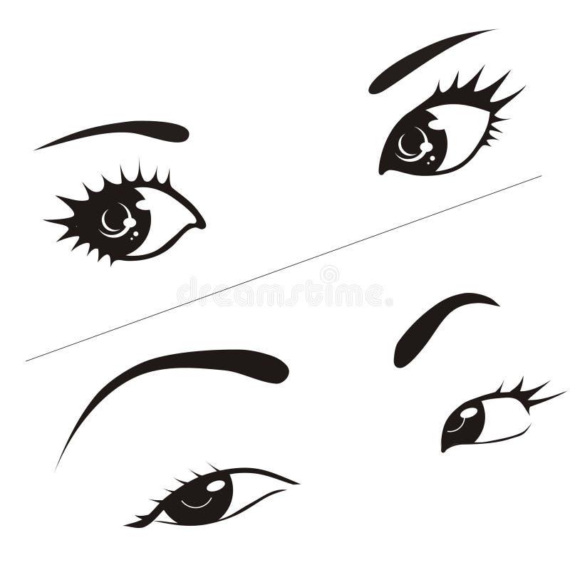 γυναίκα ματιών s απεικόνιση αποθεμάτων