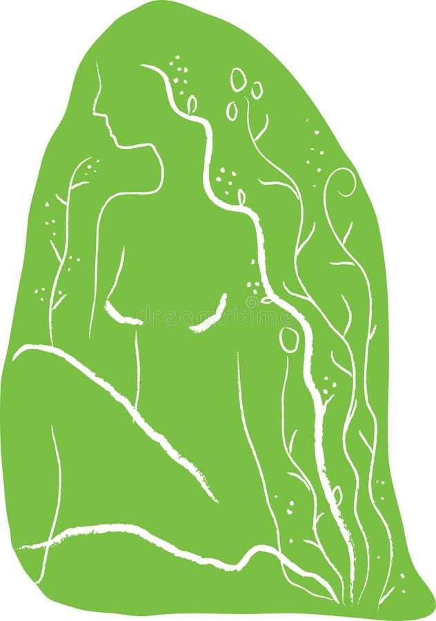 Download γυναίκα μελέτης διανυσματική απεικόνιση. εικονογραφία από μελέτη - 13177680