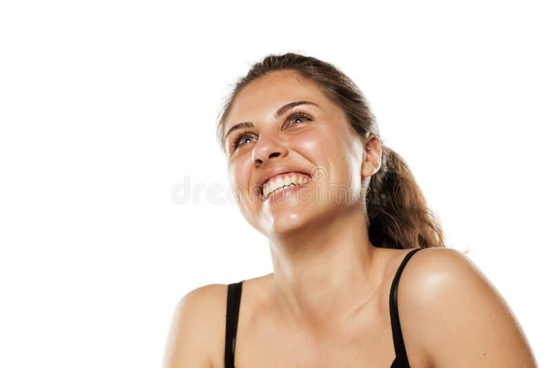 Γυναίκα με τα όμορφα δόντια στοκ εικόνες με δικαίωμα ελεύθερης χρήσης
