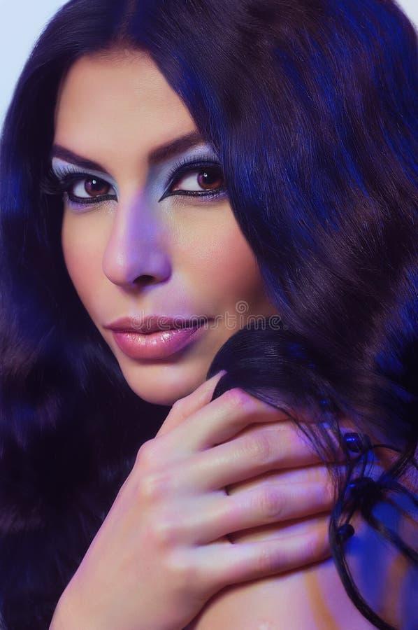 Γυναίκα με τη μόδα makeup στοκ εικόνες