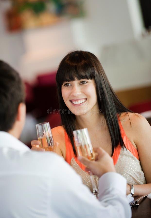 Γυναίκα με το κρασί στοκ εικόνες