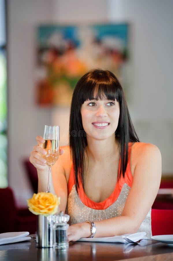 Γυναίκα με το κρασί στοκ εικόνες με δικαίωμα ελεύθερης χρήσης