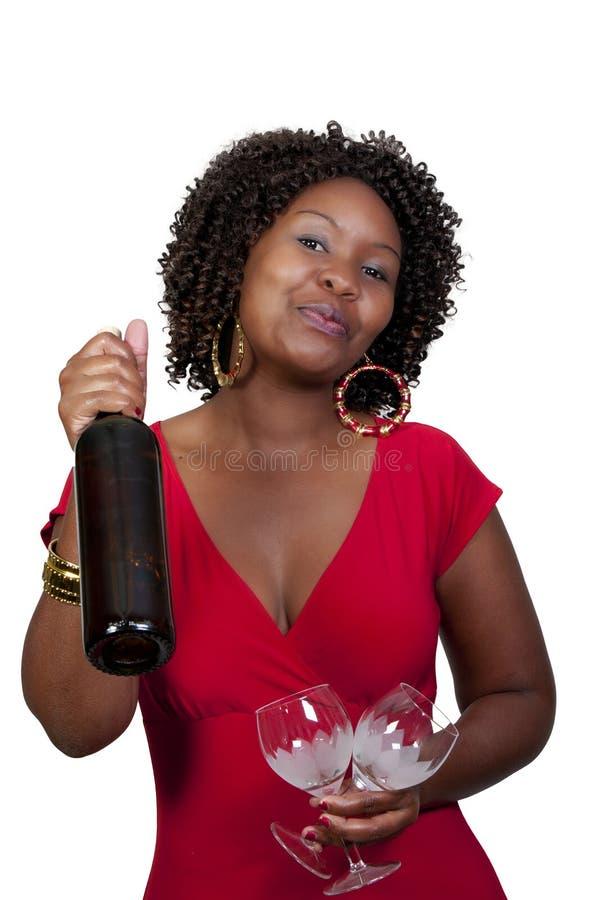 Γυναίκα με το κρασί στοκ φωτογραφίες με δικαίωμα ελεύθερης χρήσης