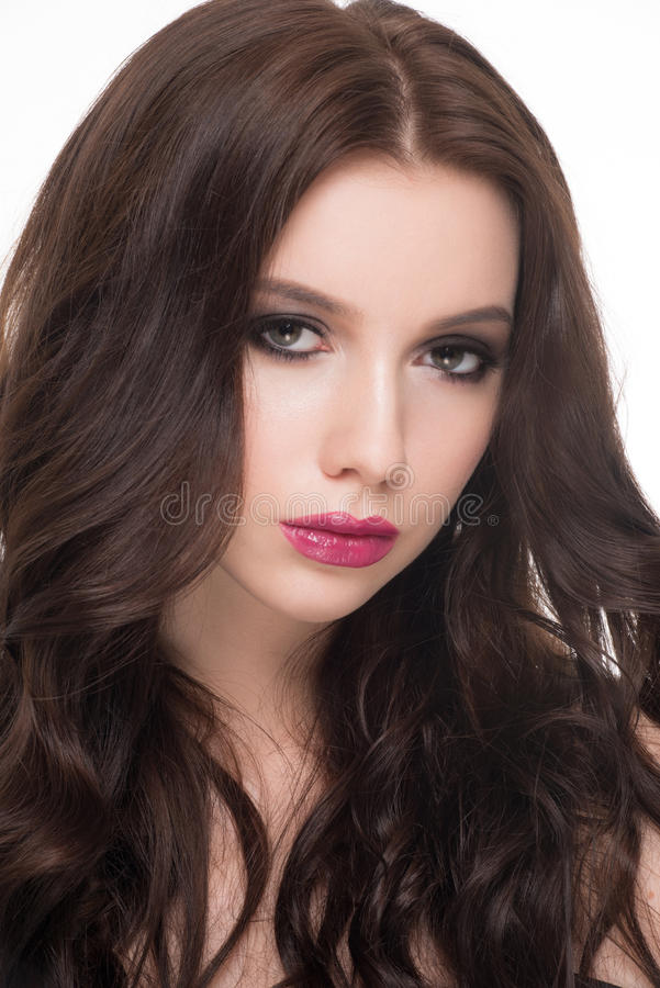 Γυναίκα με το makeup και hairstyle στοκ εικόνες με δικαίωμα ελεύθερης χρήσης