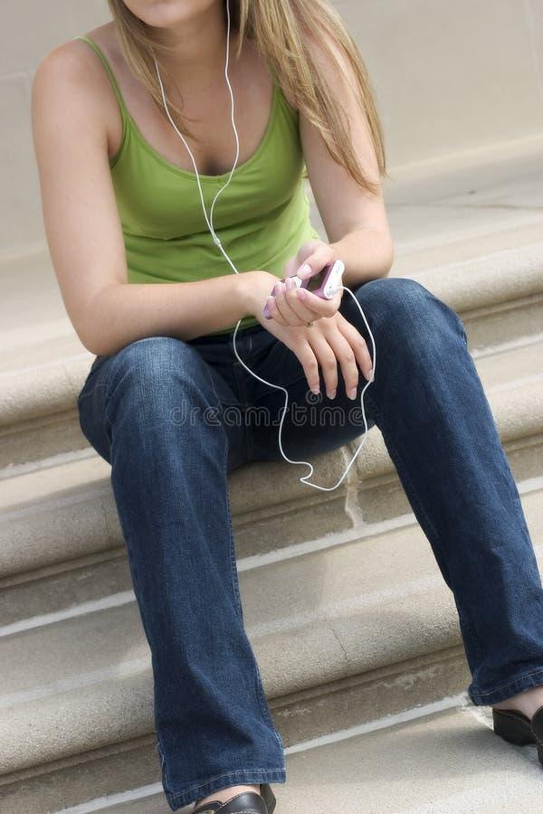 γυναίκα μουσικής στοκ φωτογραφία