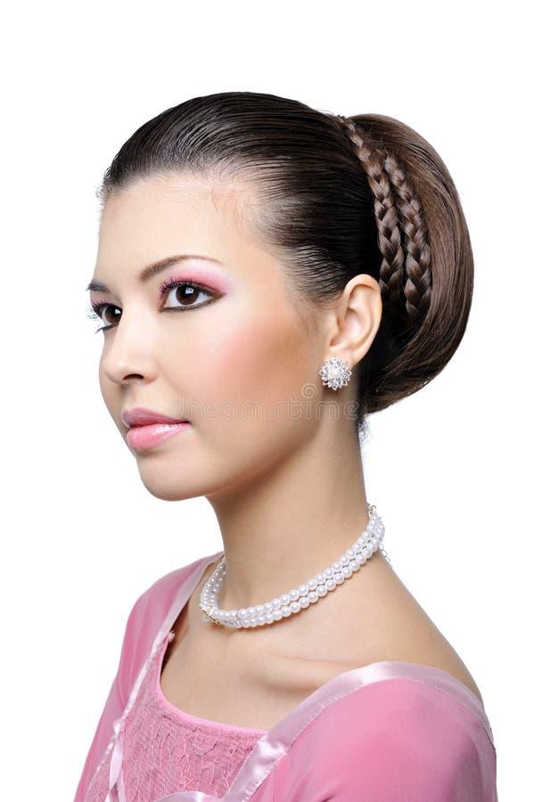 γυναίκα μόδας ομορφιάς hairstyle στοκ φωτογραφίες