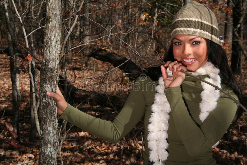 Download γυναίκα μόδας πτώσης προκλητική υπαίθρια Στοκ Εικόνα - εικόνα από κρύο, έξω: 1549271
