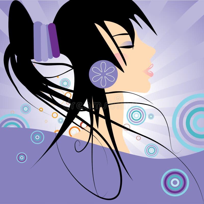 γυναίκα μόδας hairstyle απεικόνιση αποθεμάτων
