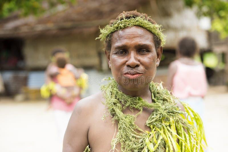 Γυναίκα νήσοι του Σολομώντος χωρικών στοκ φωτογραφία με δικαίωμα ελεύθερης χρήσης