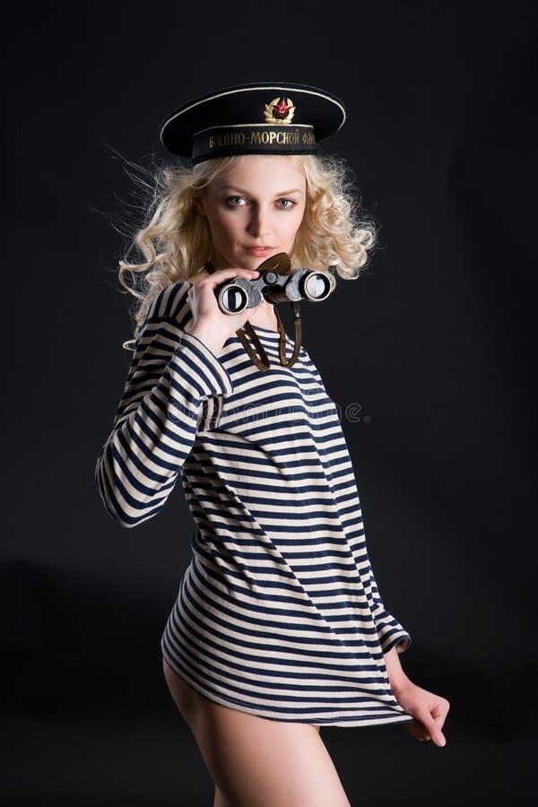 Γυναίκα ναυτικών στοκ εικόνες