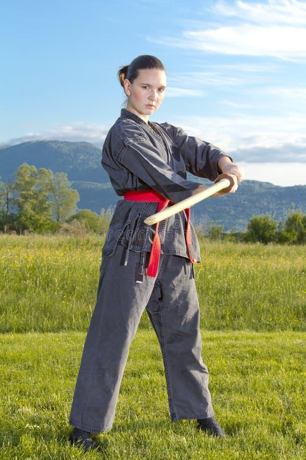 γυναίκα ξιφών ninja katana στοκ εικόνα με δικαίωμα ελεύθερης χρήσης