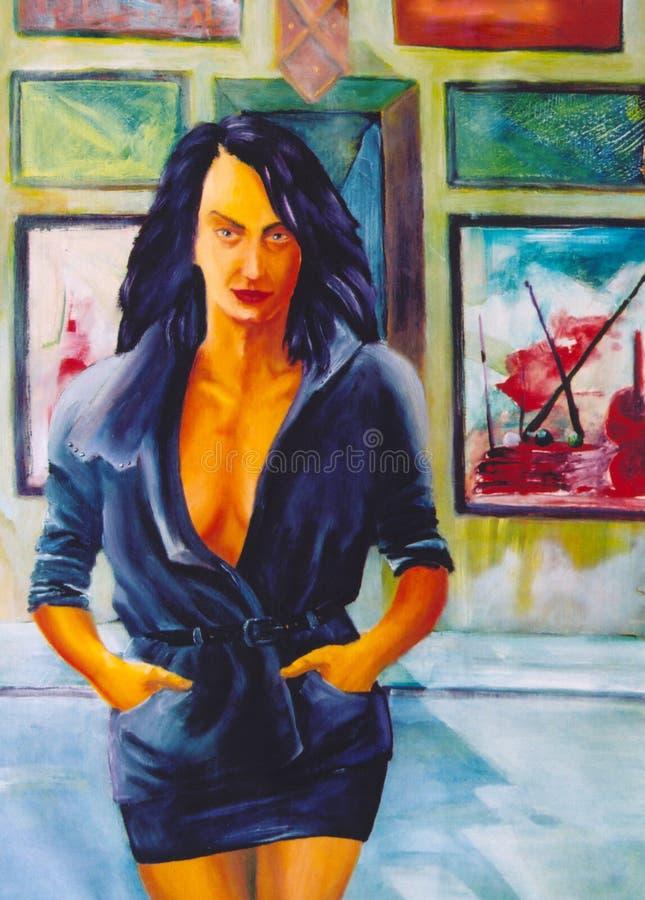 Download γυναίκα οδών απεικόνιση αποθεμάτων. εικονογραφία από μόδα - 377082