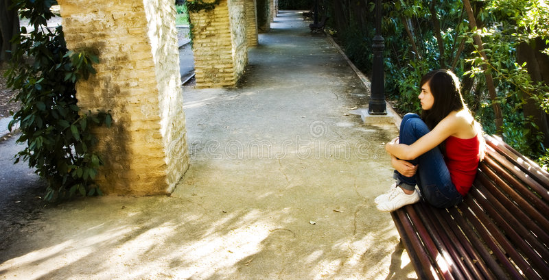 γυναίκα πάρκων στοκ εικόνα