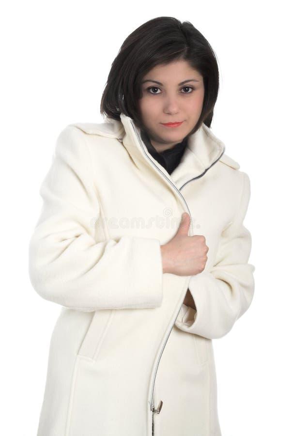 γυναίκα παλτών στοκ εικόνες