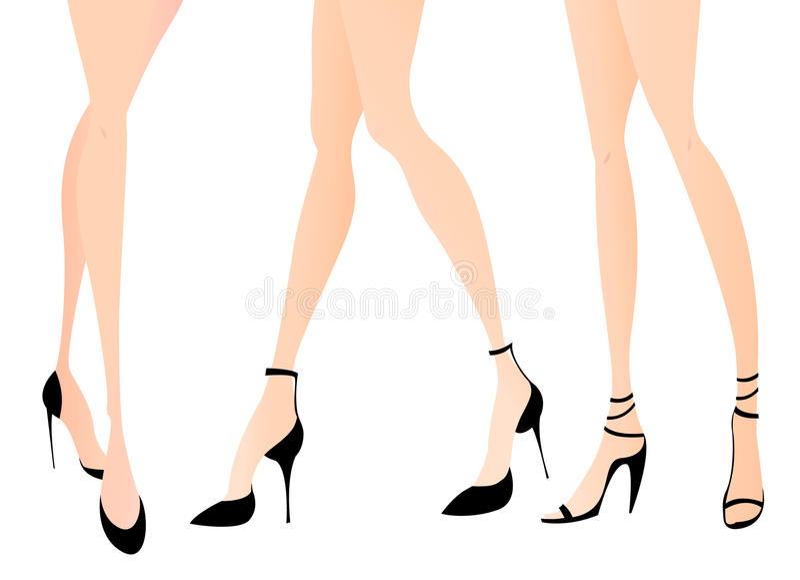 γυναίκα παπουτσιών ποδιώ&nu απεικόνιση αποθεμάτων