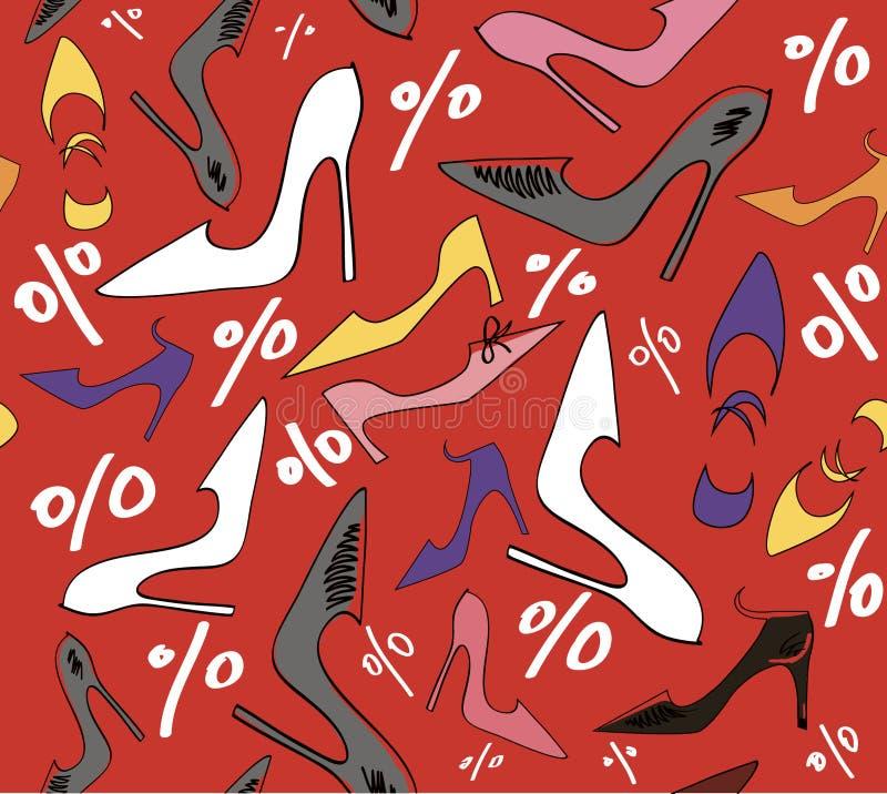 γυναίκα παπουτσιών πώλησης έκπτωσης απεικόνιση αποθεμάτων