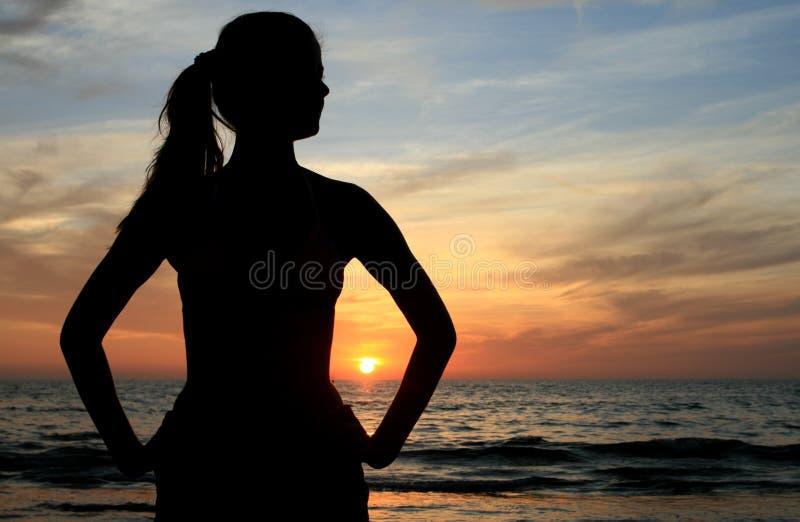 γυναίκα παραλιών στοκ φωτογραφία