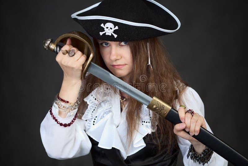 γυναίκα πειρατών καπέλων χ& στοκ εικόνες με δικαίωμα ελεύθερης χρήσης