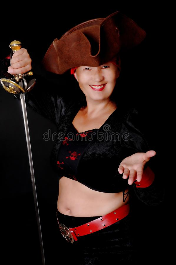 γυναίκα πειρατών στοκ φωτογραφία με δικαίωμα ελεύθερης χρήσης
