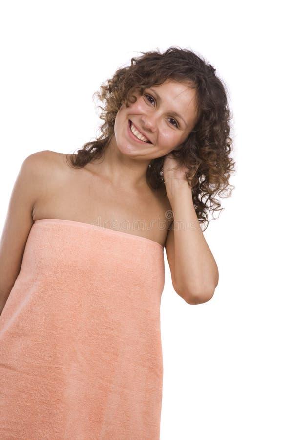 γυναίκα πετσετών λουτρών στοκ εικόνες με δικαίωμα ελεύθερης χρήσης