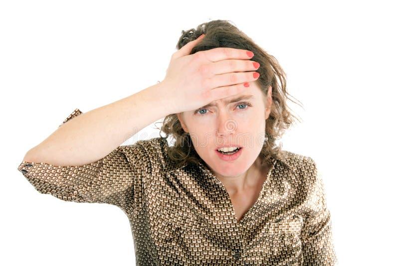 γυναίκα πονοκέφαλου στοκ φωτογραφίες με δικαίωμα ελεύθερης χρήσης