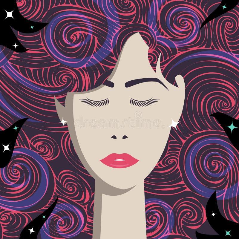 γυναίκα πορτρέτου μόδας ελεύθερη απεικόνιση δικαιώματος