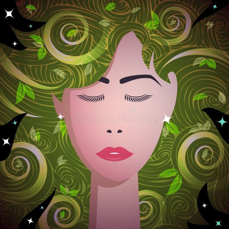 γυναίκα πορτρέτου μόδας απεικόνιση αποθεμάτων