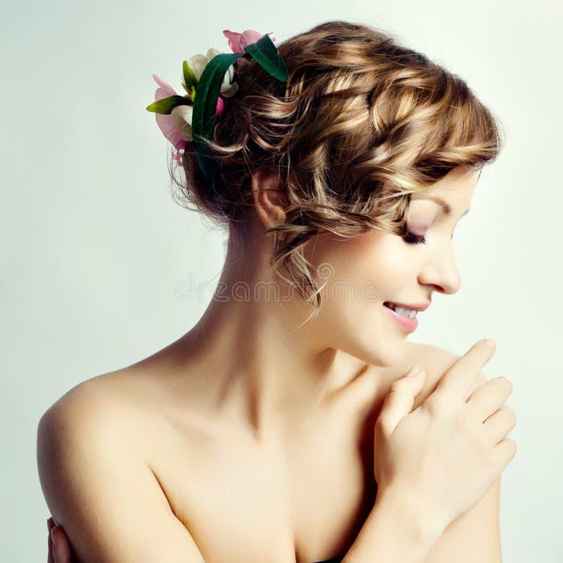 γυναίκα πορτρέτου ομορφιάς στοκ εικόνα