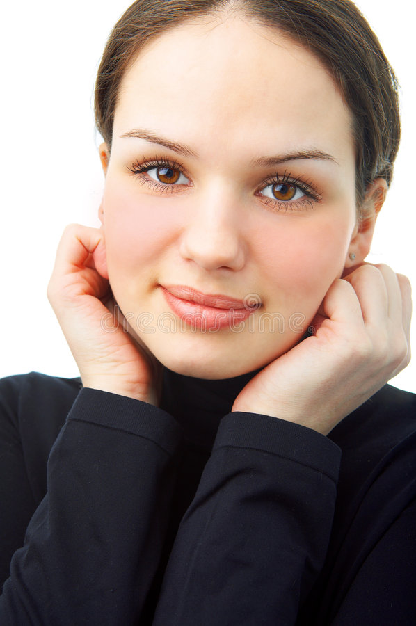 γυναίκα πορτρέτου ομορφιάς στοκ εικόνες με δικαίωμα ελεύθερης χρήσης