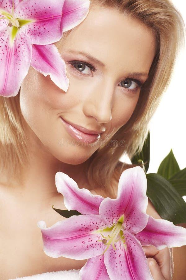 γυναίκα πορτρέτου λουλ στοκ εικόνες