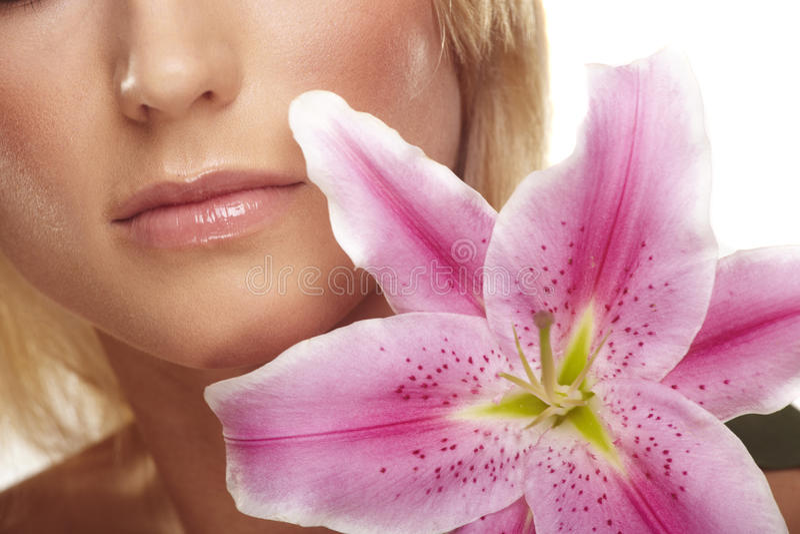 γυναίκα πορτρέτου λουλ στοκ φωτογραφία