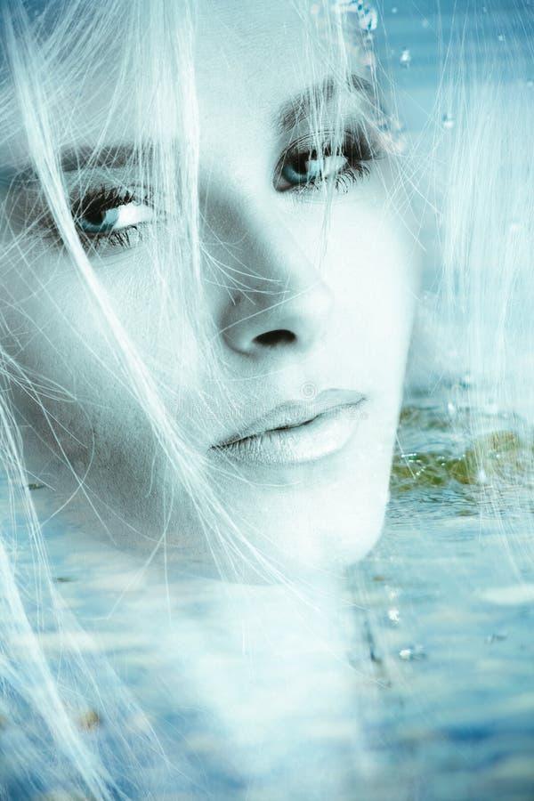 γυναίκα πορτρέτου φαντα&sigma στοκ εικόνα