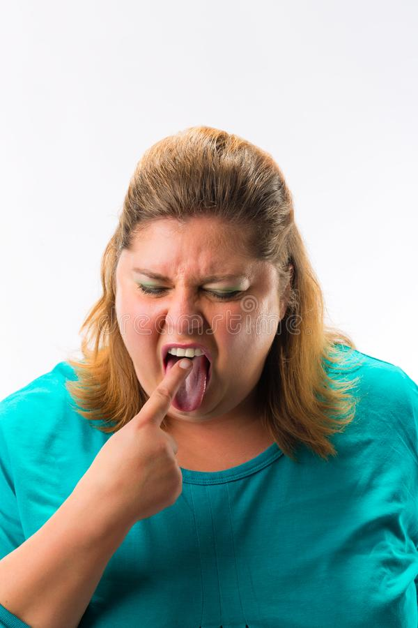Γυναίκα που αισθάνεται τη ναυτία στοκ εικόνα με δικαίωμα ελεύθερης χρήσης