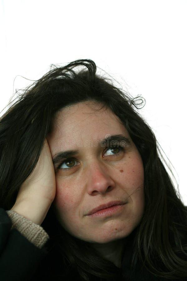 Γυναίκα που ανατρέχει στοκ εικόνα