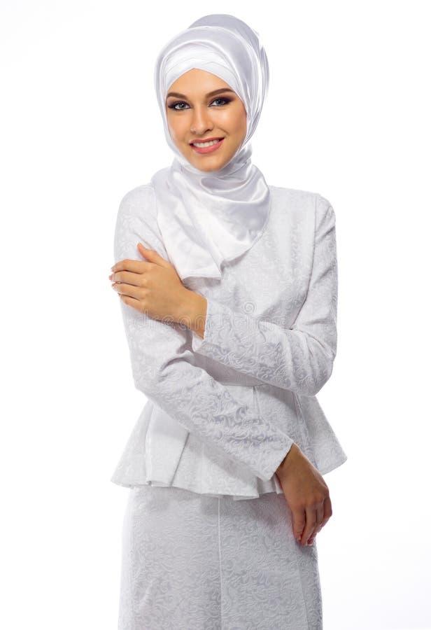 Γυναίκα που απομονώνεται μουσουλμανική στοκ εικόνα με δικαίωμα ελεύθερης χρήσης