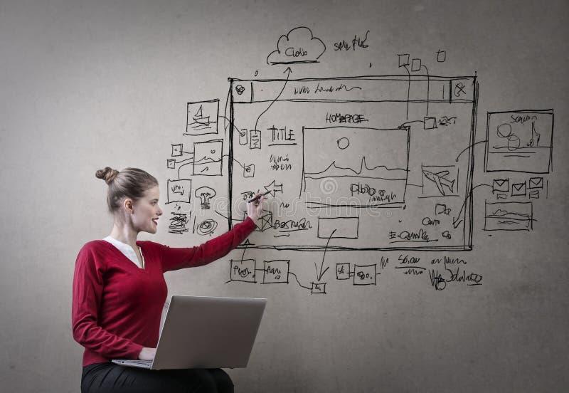 Γυναίκα που γράφει στον τοίχο στοκ εικόνα με δικαίωμα ελεύθερης χρήσης