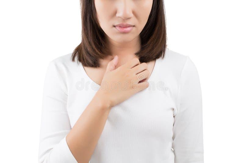Γυναίκα που γρατσουνίζεται στοκ φωτογραφία
