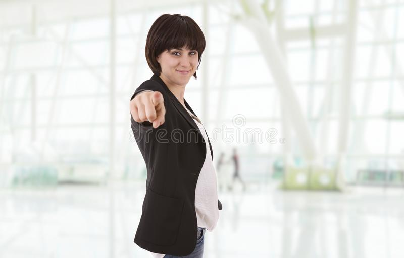 Γυναίκα που δείχνει στοκ εικόνες με δικαίωμα ελεύθερης χρήσης