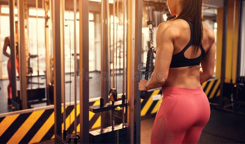 Γυναίκα που διαμορφώνει τους μυς σωμάτων στοκ εικόνες με δικαίωμα ελεύθερης χρήσης