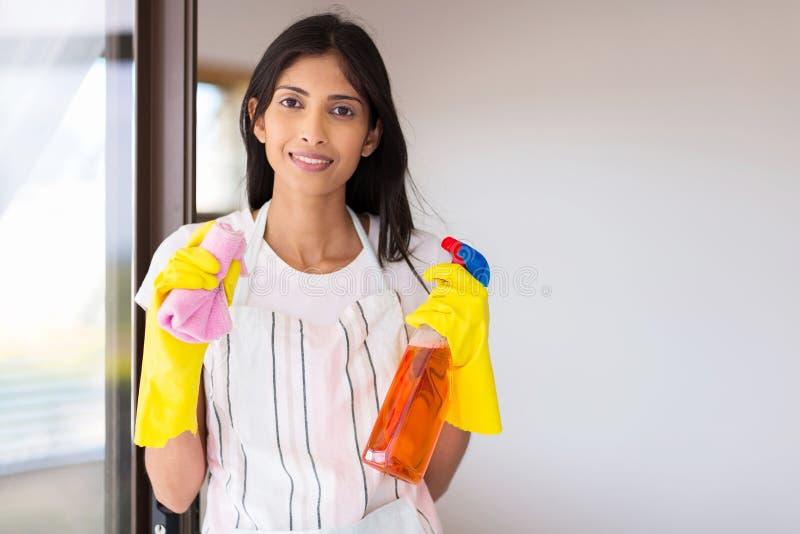 Γυναίκα που κάνει τα οικιακά στοκ φωτογραφία με δικαίωμα ελεύθερης χρήσης
