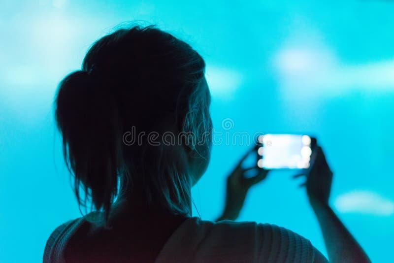 Γυναίκα που κάνει τις φωτογραφίες στοκ εικόνα