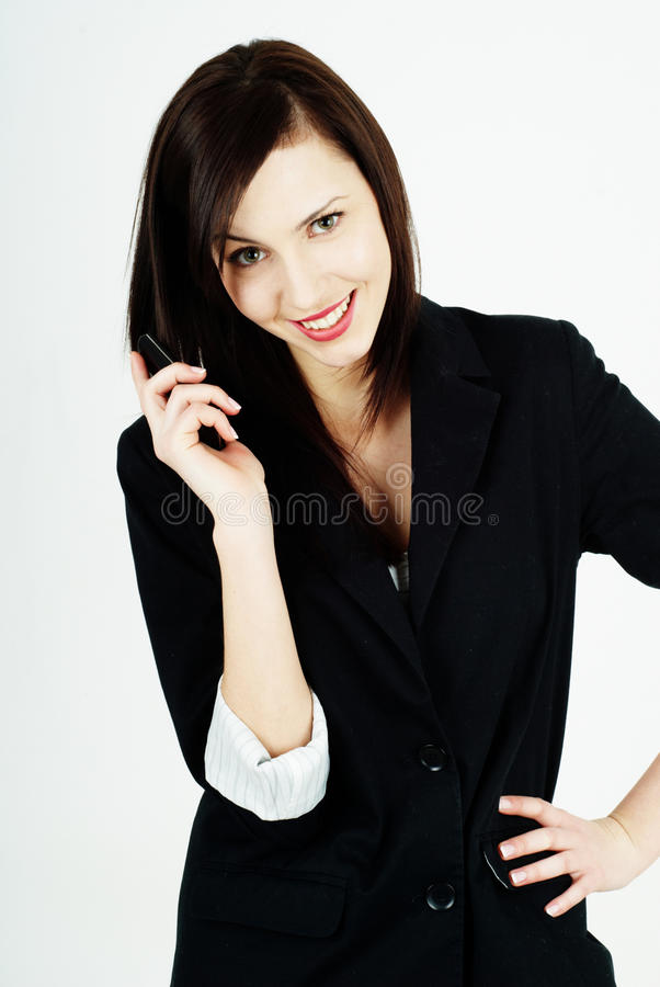 γυναίκα που μιλά στο τηλέφωνοη στοκ φωτογραφία με δικαίωμα ελεύθερης χρήσης