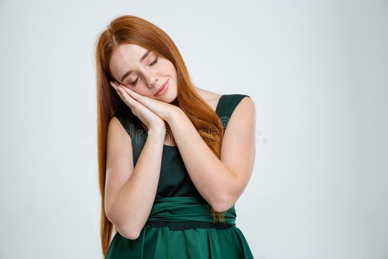 Download Γυναίκα που στέκεται και που κοιμάται Στοκ Εικόνες - εικόνα από φόρεμα, άσπρος: 62722122