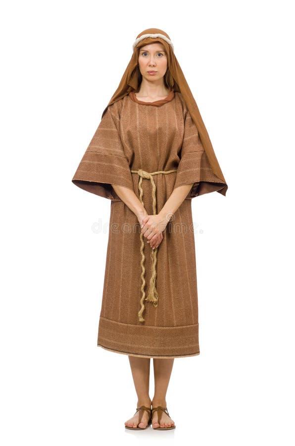 Download Γυναίκα που φορά το μεσαιωνικό αραβικό ιματισμό στο λευκό Στοκ Εικόνα - εικόνα από μαύρα, ισλάμ: 62704189