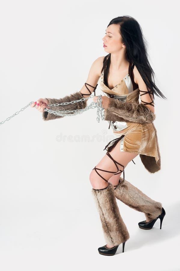 Γυναίκα πολεμιστών. Ιδέα μόδας φαντασίας. στοκ εικόνες