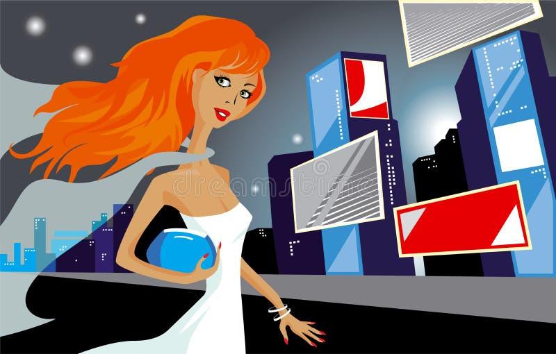 γυναίκα πόλεων απεικόνιση αποθεμάτων
