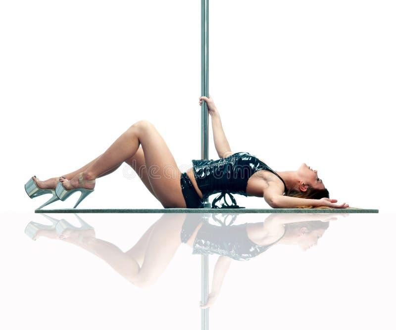 γυναίκα πόλων χορευτών στοκ εικόνες