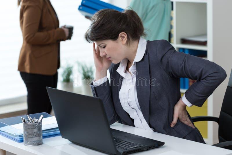 γυναίκα πόνου στοκ εικόνες