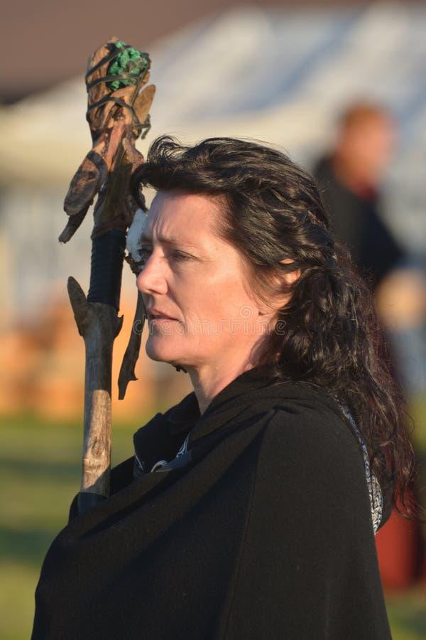 Γυναίκα σαμάνων στοκ φωτογραφία